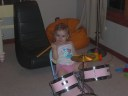 Olivia and her drums